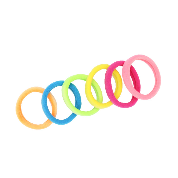 Multi color Bright New Design Sport Ponytail Holder Strong Exercise Gym Elastic Band For Wig