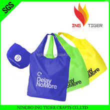 Good Quality For Promotion Shopping Folding Nylon Tote Bag