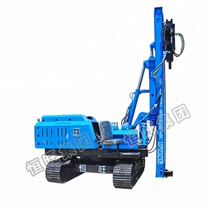 2018 hot sale construction hydraulic auger drilling rig / pile driving machine / screw pile driver