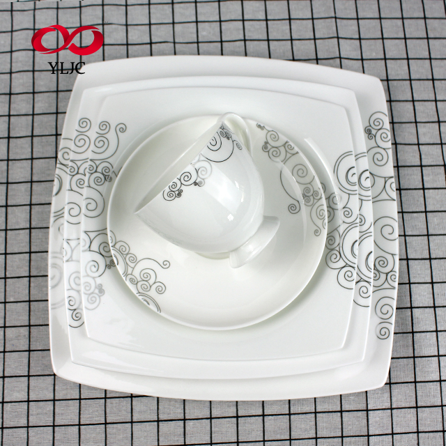 Online shop china Top grade Klassische kunden verglasung 30 pcs bone china abendessen sets
