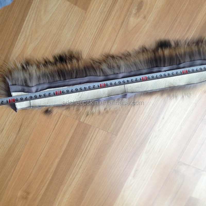 Women Real Fox Racoon Fur Long Scarf