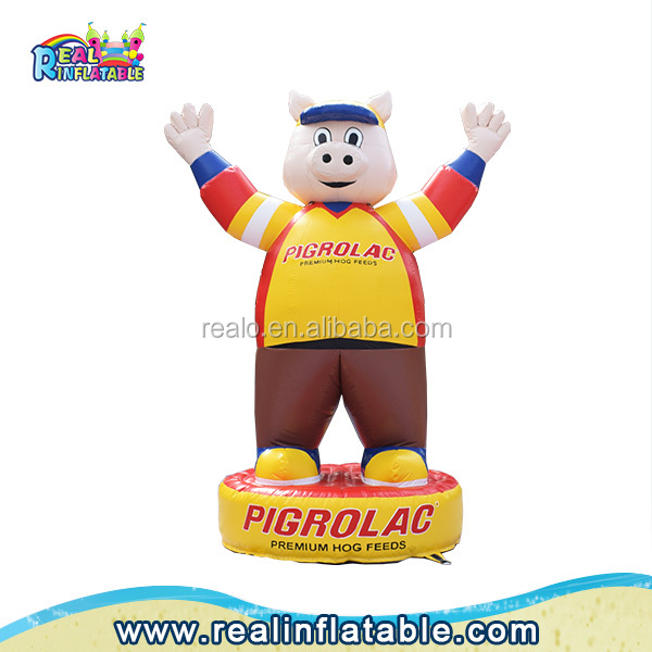 High quality customized inflatable pig for advertising, Cheap inflatable cartoon for sale, inflatable replica pig