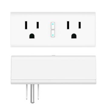 Tuya Smart Life Separate Control Wifi Wall Socket With Dual Plug Compatible  Alexa Google Home Voice Control - Buy Separate Control Wifi Wall