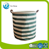 Laundry products best use of material simple style of striped printing laundry storage container