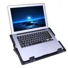 Laptop Cooler Accessories 6.5-45 Degree Adjustable 2 USB laptop Cooling Pads Blue LED Notebook Stand Base For Computer PC