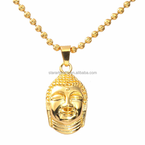 hot new gold thailand jewelry buddha head buddha pendant for men low MOQ