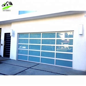 Hot sale remote control folding garage door with aluminum panels