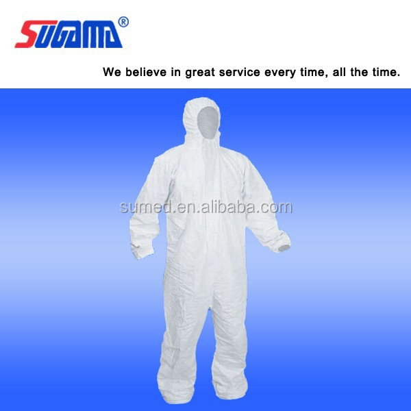 Disposable sterile medical gown / white isolation gown