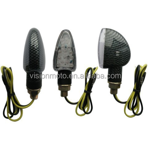 high quality black carbon chrome motorcycle turn signal lights gear indicator motorcycle