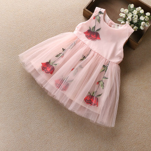 Tutu dress cutting new design baby girls dress little girls dresses cute baby frock party gowns for kids