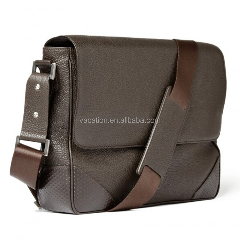 Business man stylish real leather cross body bag
