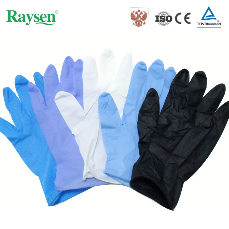 China supplier disposable rubber gloves nitrile