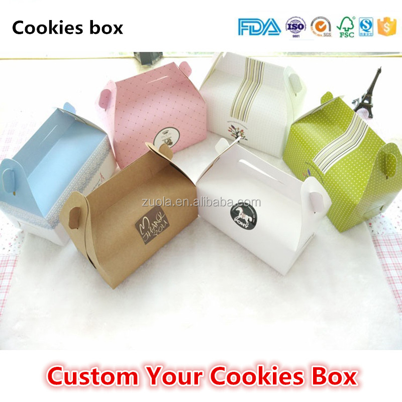 Custom your cookie box cardboard cookie packaging gift boxes cookie bags