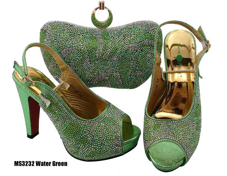 f53923d5012379 Femmes africaines Correspondant à la Chaussure Italienne et Sac Ensemble  Nigeria Style Haute Talon