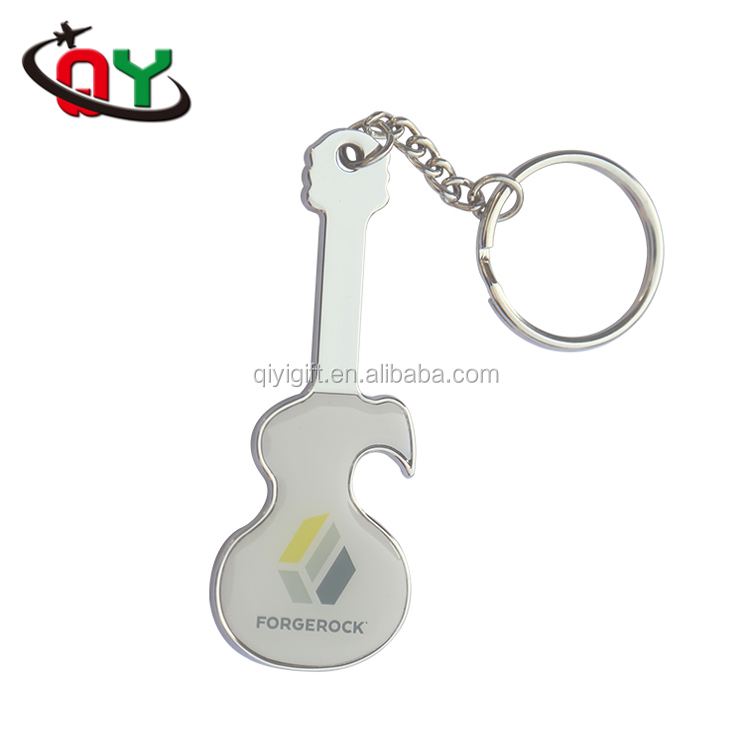 free sample custom guitar shape unique bottle openers 3D branded beer plastic wine keychain bottle opener