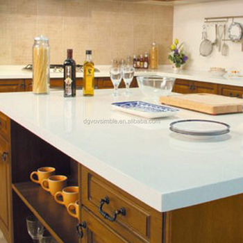 White Acrylic Resin Solid Surface Kitchen Countertop Width