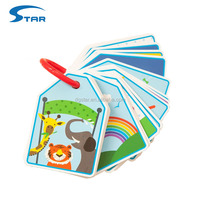 Custom Paper Learning English Animal flash cards set for kids