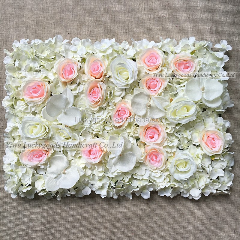40x60cm Artificial Silk Flower Wall Rose Hydrangea Peony Decoration Wedding Stage Hotel Background Home
