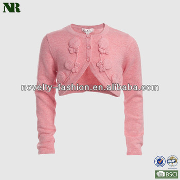 Girls Pink Cardigan Sweaters Latest Design