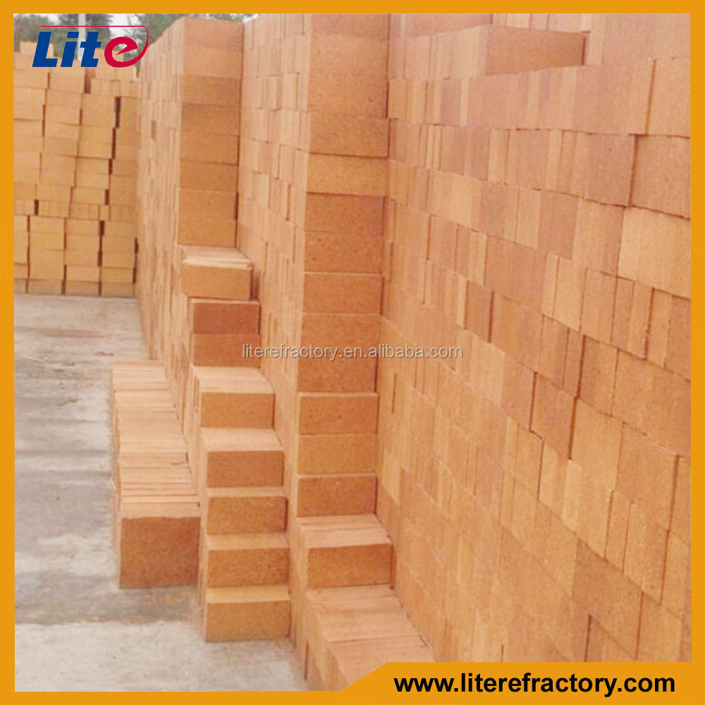China Supplier 30%-45% Al2O3 Refractory Lower Porosity Brick Fire Clay Bricks for Lining of Steel Ladle