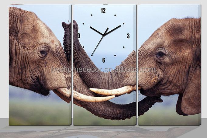 Orologi Da Parete In Tela : Elefante tela orologio da parete set su tela orologio da parete uk