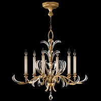 Beveled Arcs Six-Lights Wrought Iron Chandelier