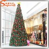 Chinese wholesale giant plastic pvc christmas tree ornament with metal stand evergreen led lighted trees festival decoration