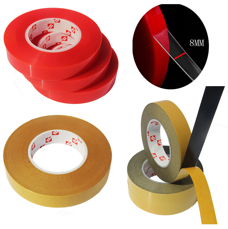 RED Double Sided PET Material Super Sticky Heavy Duty Adhesive Tape For Cell Phone Repair