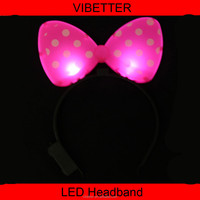 LHB-009 Cool Light Up Braids Crown Noodle Headband Led Flashing Blinking Light Party Supplies black light party supplies