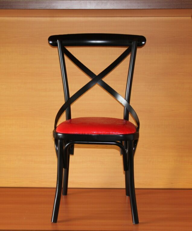 Cheap Black Metal Chair Design For Restaurant Commercial Dining