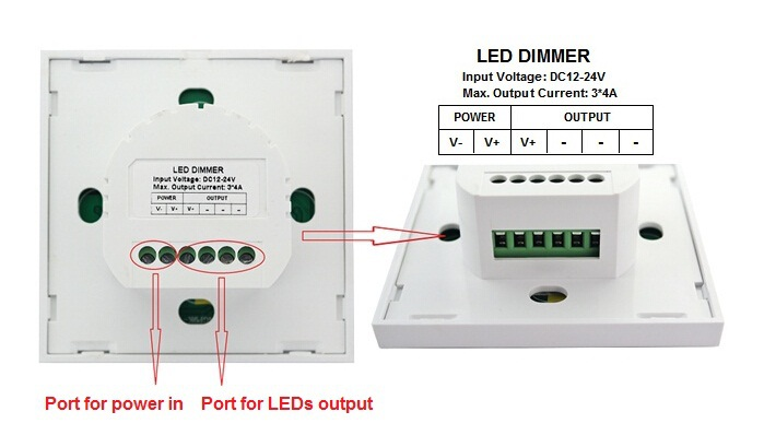 New Product Led Touch Dimmer Led Wall Panel Dimmer Switch