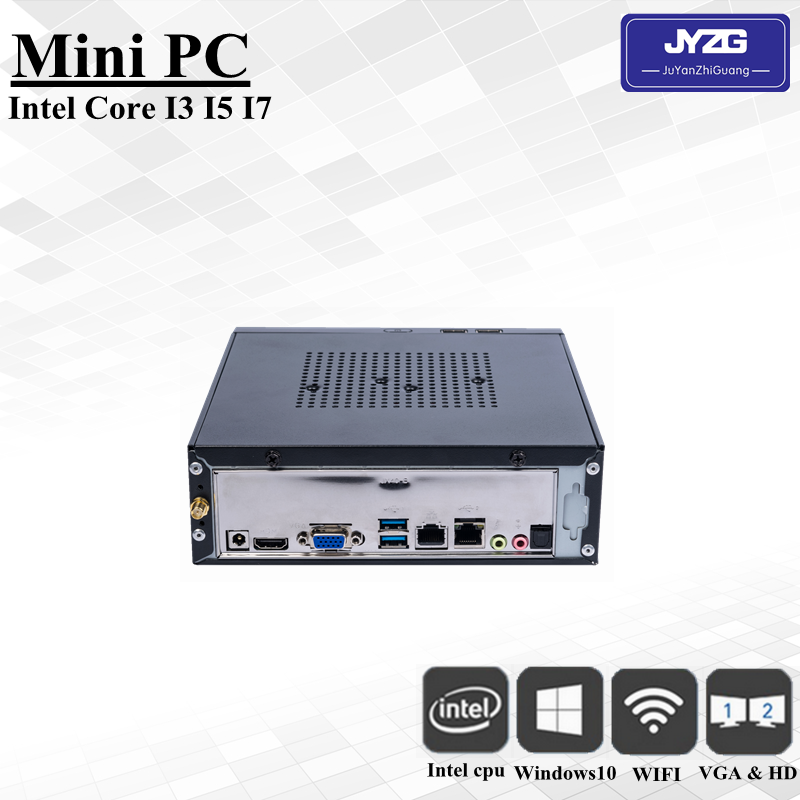 2018 Ram 4gb / Ssd 64gb Fan Mini PC 2 lan port , 6*USB port Intel HD 5500 Graphics 64Mbit operating system