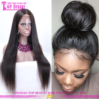 New design 150% density Glueless full lace wigs 100% indian remy human hair 26 inch human hair wig