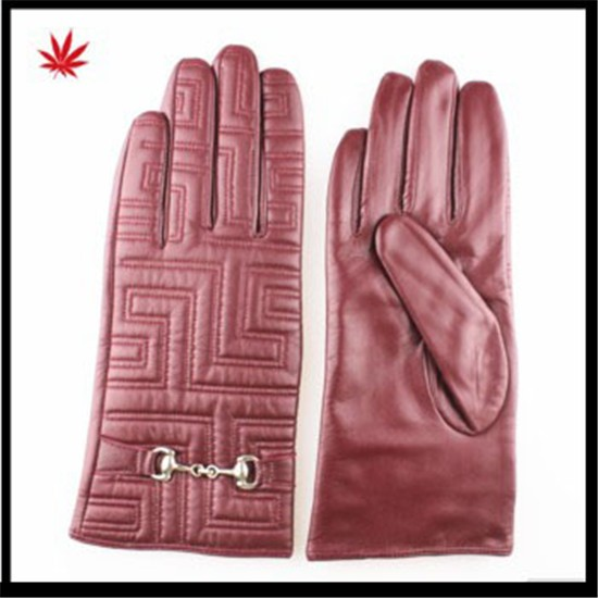 ladies winter sheepskin shell acrylic lining leather gloves factory price