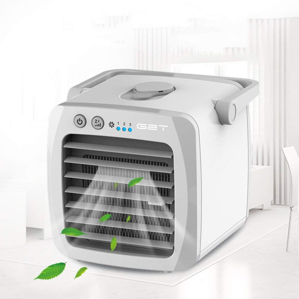 Cooler Personal space air small fan Evaporative Portable mini air conditioner Small Air conditioner Refrigerator Usb -A 13x13x13cm(5x5x5inch)