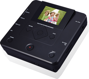 2.8 Inch Full HD Media DVD Recorder VHS player Portable AV IN Video Recorder