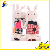 Factory Custom Wholesale Lovely Pet Show Toy Stuffed Rabbit Plush Pet toy