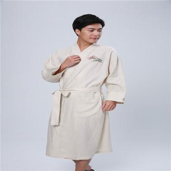wholesale Cotton adult romper pajamas onesie extra long bathrobes men s  bathrobe ed9b9c05a