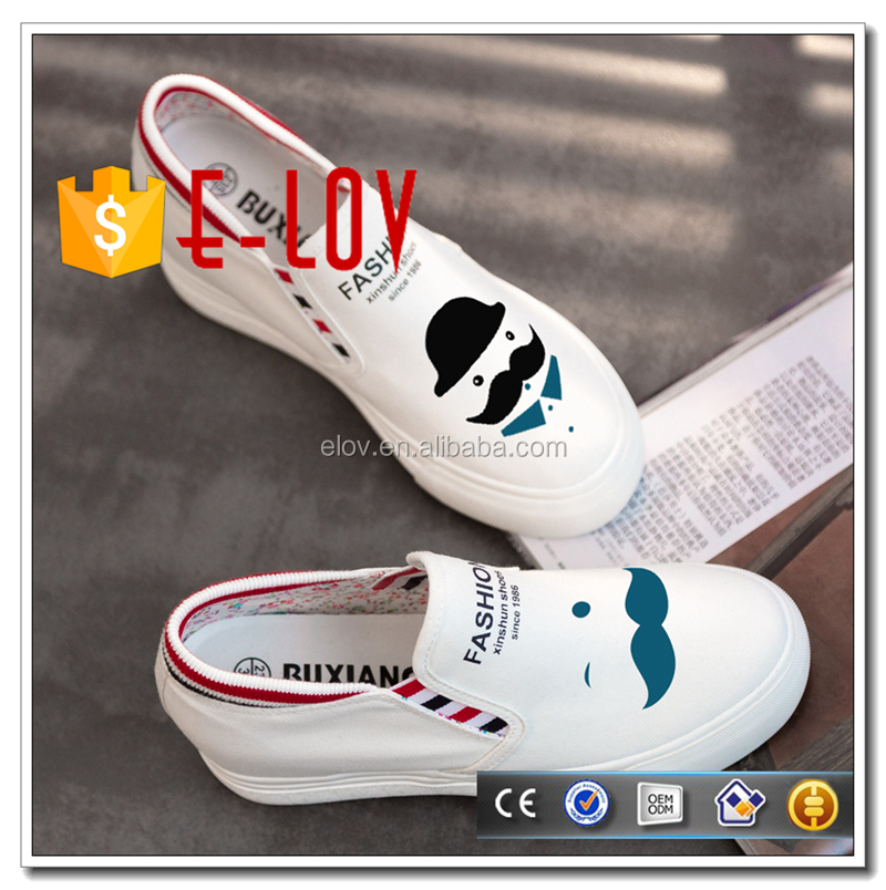 Custom brand canvas sneakers sale of cheap shoes T-WZ103/T-WZ104