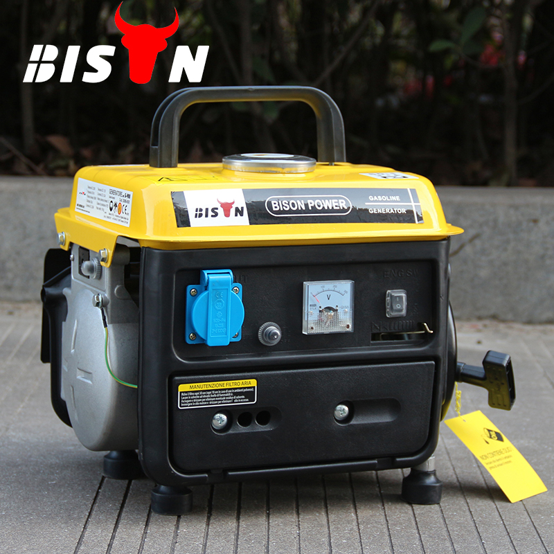 Bison China Taizhou 950 650W Mini Eletricity Gasoline Generator, Portable 2-stroke Air cooled Generator