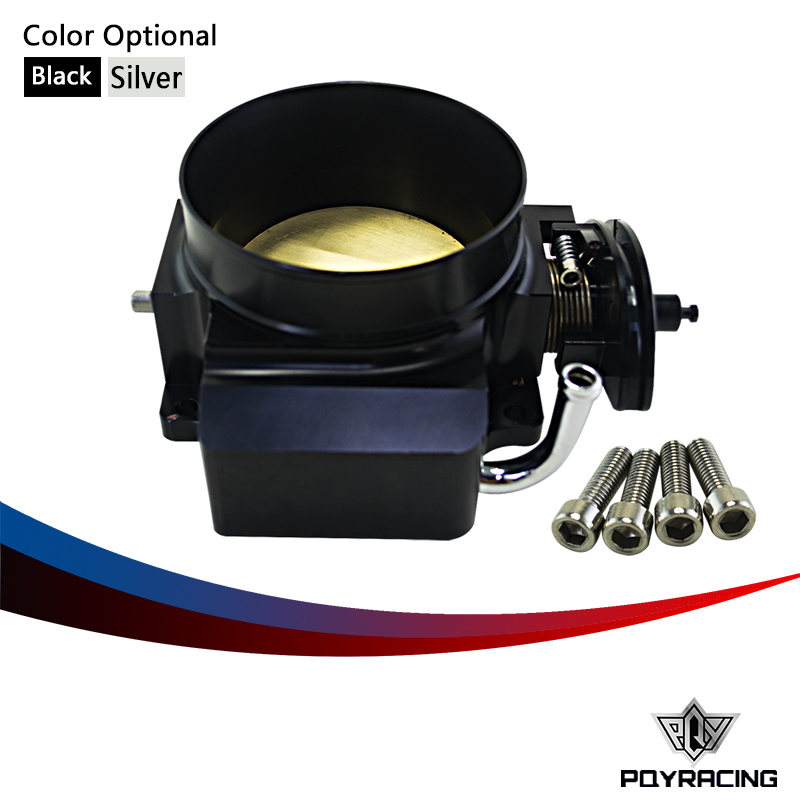 PQY RACING- NEW THROTTLE BODY FOR 92MM FOR GM GEN III LS1 LS2 LS6 THROTTLE BODY LS3 LS LS7 SX LS 4 BOLT CABLE PQY6937