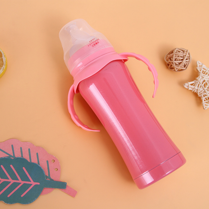 BPA free Double wall Vacuum Stainless steel tumbler Milk sippy mug baby water Bottle