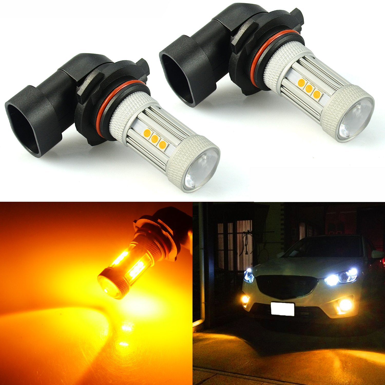 Get Quotations JDM ASTAR 1300 Lumens Extremely Bright 3030 Chipsets 9006 Yellow LED Bulbs For DRL Or Fog