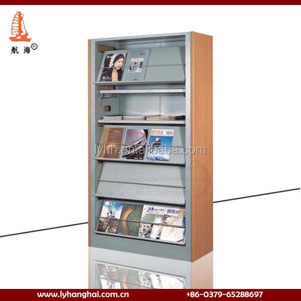 Great Customized 6 Layer Steel Book Display Rack School Library Metal Book Shelf  For Reading Room