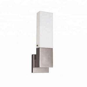 Hotel Lighting Designer Led Indoor Chrome Stainless Steel Bedside Acrylic Wall Sconce Light Wireless