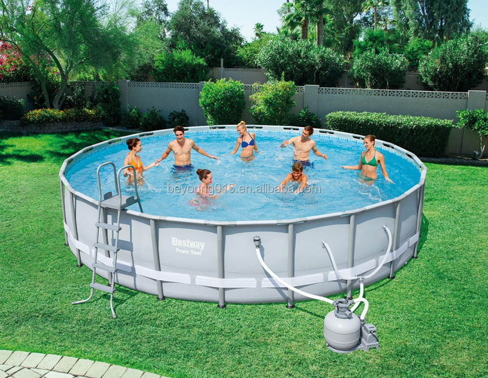 22 Ftx52 In Power Steel Frame Pool Big Above Ground Pools For Sale ...