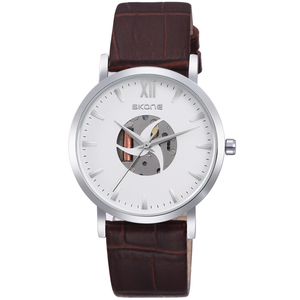 Top quality mens luxury king quartz chronograph watch leather cuff watch