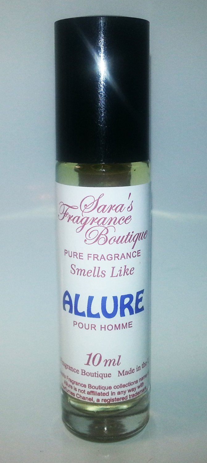 Sara's Fragrance Boutique Designer Oil Impression Of Allure For Men, 10ml **Free Name Brand Sample-Vials With Every Order**