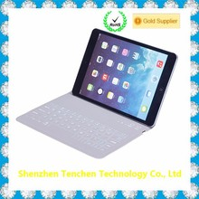 Wholesale aliexpress PU leather case For iPad air2 with bluetooth keyboard