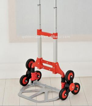 Aluminum Folding Stair climbing trolley Dolly with 6 wheels